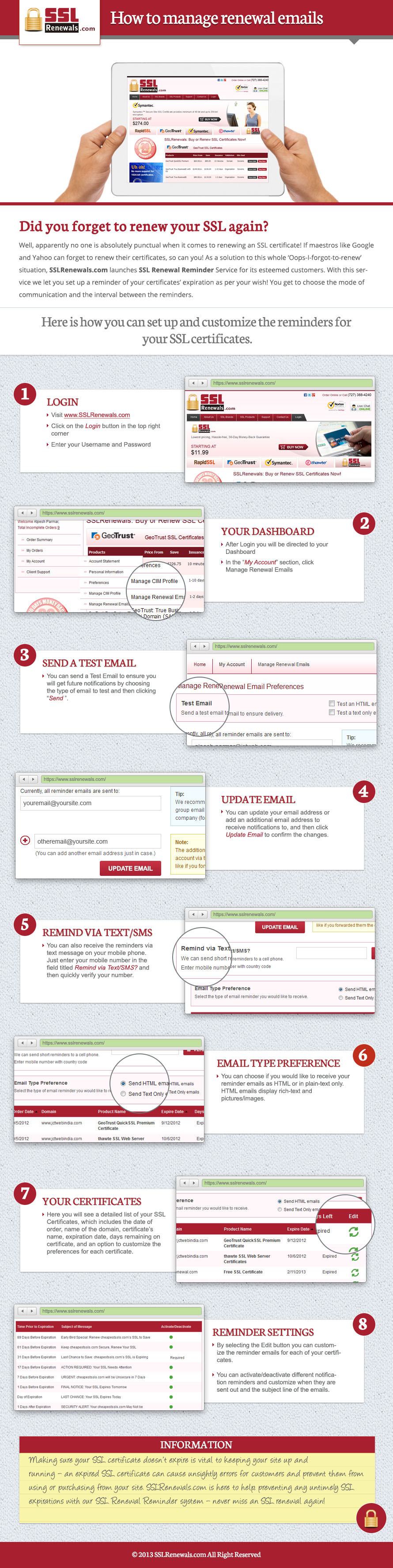 How to manage renewal emails infographic