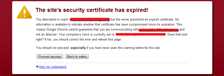 SSL Certificate Expired