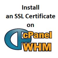 Install SSL on cPanel/WHM