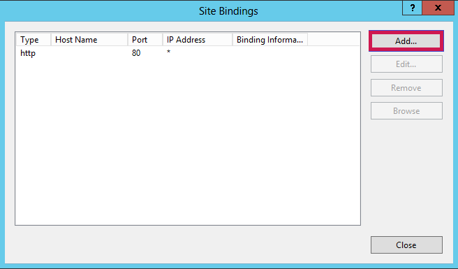 Site Bindings