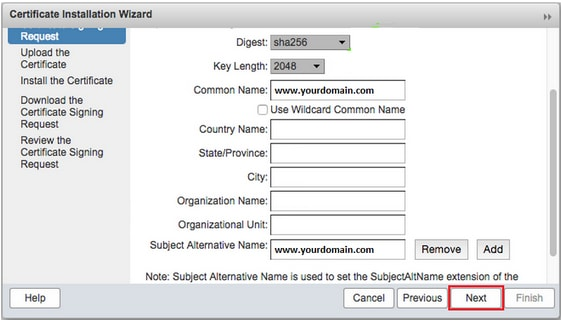 generate csr zimbra mail server